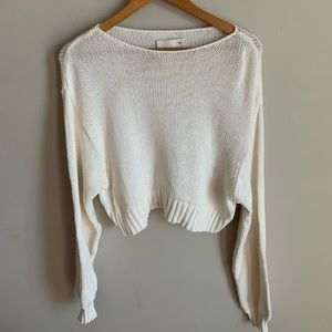 Aritzia- Wilfred Free Knit  Cropped Sweate…